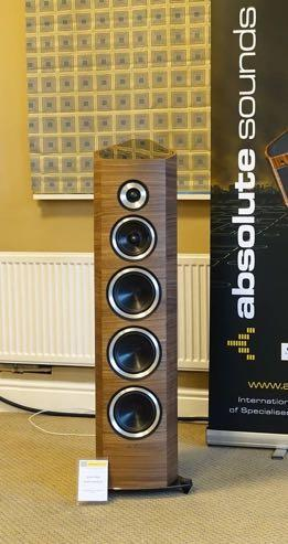 Sonus Faber Venere Signature While not formally presented I got a promising earful from the latest Italian made Sonus Faber Venere Signature tower speaker, visually showy, and