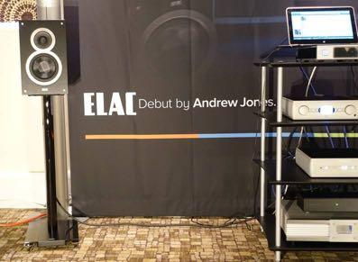 Elac powered into this show with the new Andrew Jones designed budget stand mount compact, this the first in their Debut series.