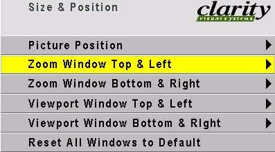 Size & Position Zoom Window is in two parts.