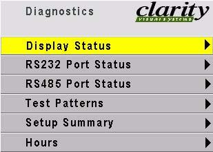 Diagnostics: Display Status The Optical Engine SN is read from the optical engine.