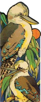 A Kookaburra Shape Book from this rare Sydney series. Sydney, John Sands, November 1931.