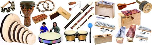 Folk music and music composed by the children themselves are mostly used in the Orff classroom.