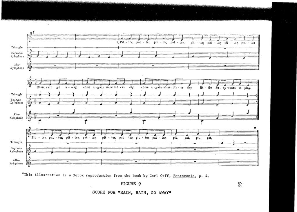 *This illustration is a Xerox reproduction from the book by Carl Orff. Pentatonic. p. 4.