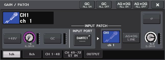 Example: Connecting the output of an AXT400 to OMNI 1 on a CL console, and assigning the