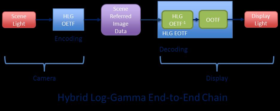 display Traditionally a gamma law OOTF Opto-Optical Transfer