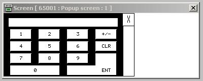 ENTER CIRCUIT SIZE: This button allows the circuit size of the connector to be entered. When the button is pressed a pop-up screen [Screen 65001] will appear.