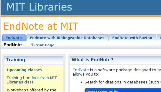 EndNote Basics 7 IV. EndNote Support See our guide to using Endnote at: http://libguides.mit.edu/endnote C.