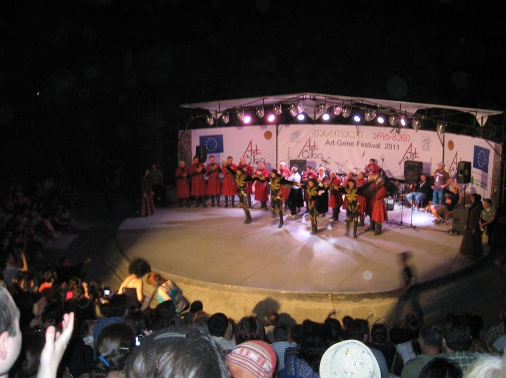 the evening, a crowd of several hundred gathered in an open-air auditorium for performances of well-known musicians, including Nino Katamadze and Zumba. 61 Figure 3.13.