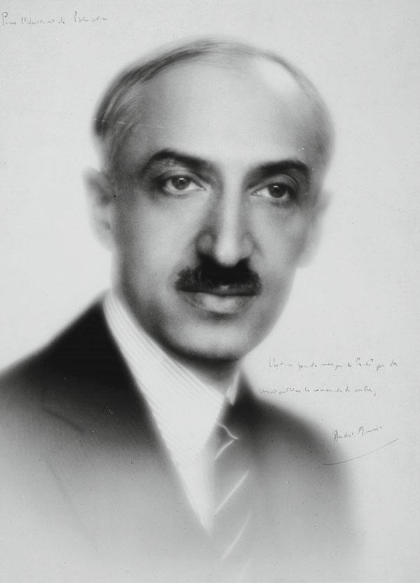 Signed photograph of André Maurois presented by the writer to Princeton University, c.1931.