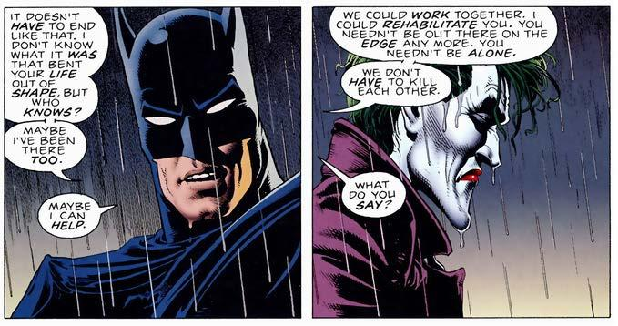 Moore postulates that both the Joker and Batman are fundamentally