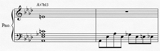 in later movements of the suite Lastly, A 7 1 hints at F minor as ell The versatility and ambiguity of this harmony as very useful to me All of the different ays in hich it could develop proved to be