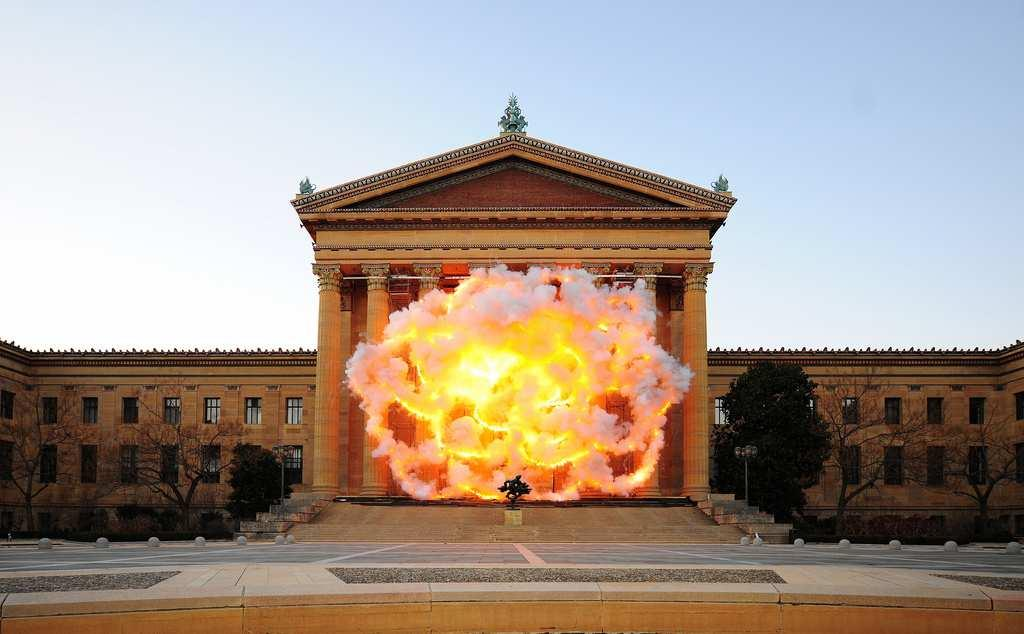 Photo by I-Hua Lee, courtesy of Cai Studio. Figure 26: Cai Guo-Qiang, Fallen Blossoms: Explosion Project, 2009.