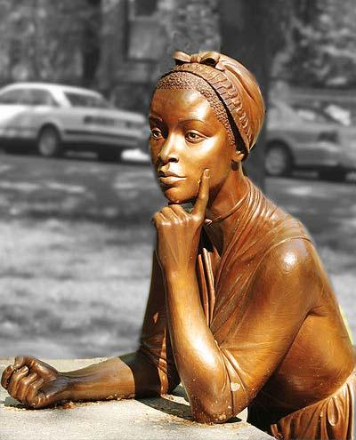 Phillis Wheatley, 1753-1784, poet, was the first African-American to publish poetry. Born into slavery, she was taken from her parents at an early age.