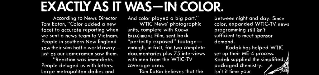 Since color, expanded WTIC -TV news programming still isn't