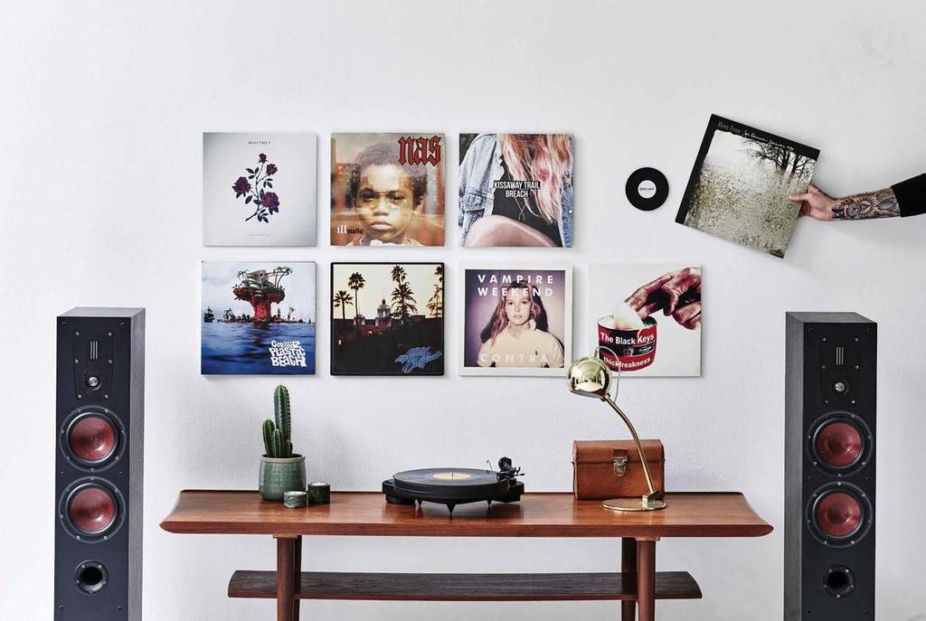 A simple, sleek solution for hanging records and sleeves on the wall, without any