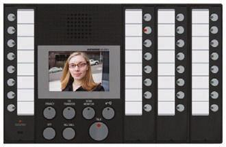 ComPoint Door Station with Camera RD-ISK4 Designed to elegantly add video to the ComPoint intercom system Includes a low-light monochrome video camera with a wide range of adjustments Fits in full