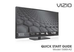 PACKAGE CONTENTS VIZIO LED HDTV with Stand Remote Control and