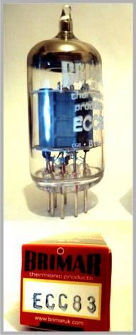 the very best in quality. 0 (BTP-ECC82) Brimar TP ECC83 Brimar thermionic products ECC83 is our classic dual triode.