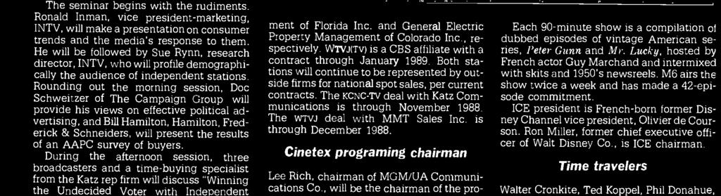 and General Electric Prperty Management f Clrad Inc., respectively. WTVJ(TV) is a CBS affiliate with a cntract thrugh January 1989.