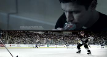 Sidney Crosby Split Screen :30 Television Spot refer to file Sidney_SplitScreen_30 During the NHL All-Star game in January, 2012 a :30 second