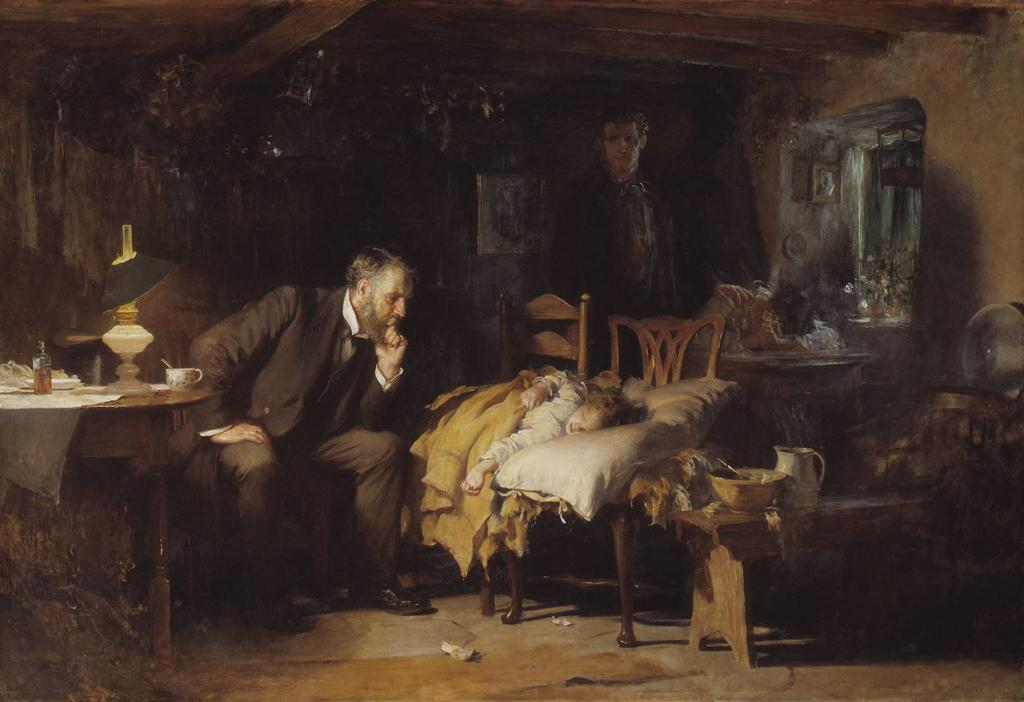 Fildes, Sir Luke. (1891) The Doctor. Bell says this is not a work of art, because its lack of significant form means that it does not provoke the aesthetic emotion.