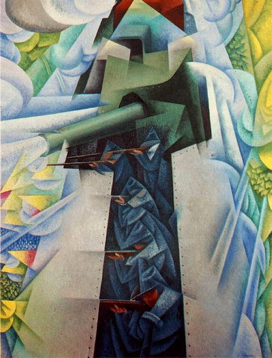 Some works by Italian Futurists, which Bell