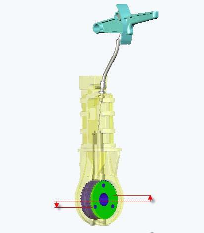 06.0 swingo 450B - technical procedures.fm - 31. May 2007 Picture 4: Toothed wheel position 4.3.1.6 Replacing handle position lock Service Lubricate the position lock and articulation with: Klüber Staburag Refer to Material listin 4.