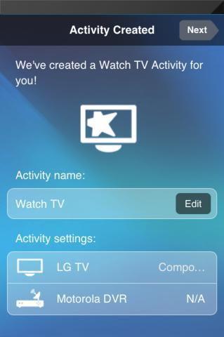 When prompted, either tap Add to set up a Cable / Satellite Receiver or tap Skip, I don t have this  Adding a Watch TV Activity Steps in this section are part of the process of setting up the Harmony