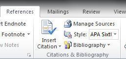 APA Citation help in Microsoft Word go to References tab, create