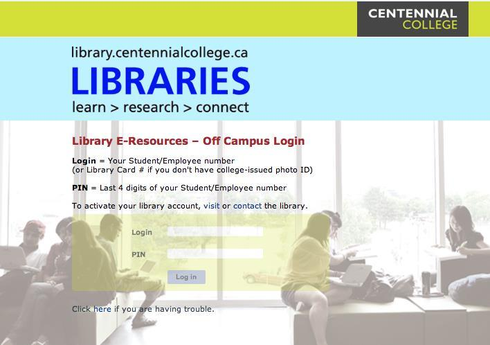 Your Library Account You need an active library account to use the library and to access full text library resources from