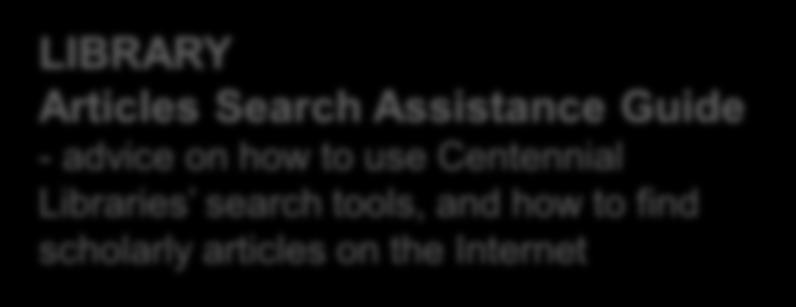 Centennial Libraries search tools,