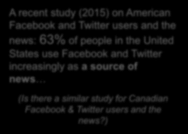 Facebook & Twitter users and the news?