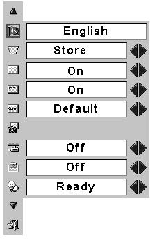 Setting Setting Menu Press MENU button to display the On-Screen Menu. Press Point 7 8 buttons to move the red-frame pointer to SETTING icon.