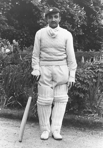 CRICKET 259 The vice-captain of the Indian cricket team, V. M. Merchant. He holds the record score in India of 359 not out, May 1946.