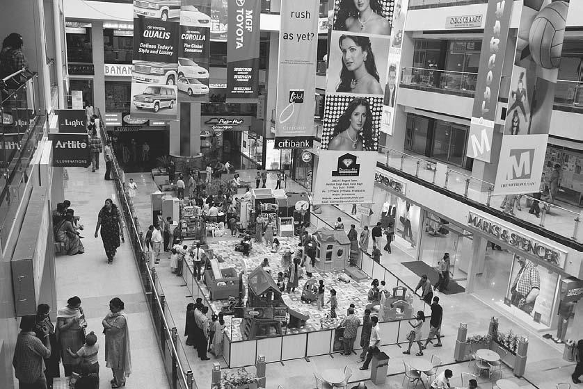 CONSUMER CULTURE 277 Three new malls opened fifteen miles outside of New Delhi in neighboring Gurgaon, Haryana, in 2002 and are a big hit with the growing middle class.