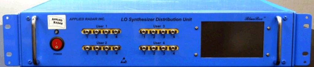 (a) Gain Figure 8: AR1004-2-18-4 typical performance (b) IF bandwidth AR1001-2-8 LO Synthesizer Distribution Unit (LSDU) The AR1001-2-8 LO Synthesizer Distribution Unit (LSDU) provides the LO 1 and