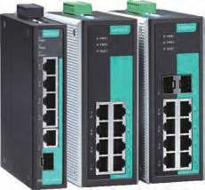 A P P R O V E D Industrial Ethernet Solutions EDS-G205-1GTXSFP/G308 Series 5G and 8G-port full Gigabit unmanaged Ethernet switches Fiber optic options for extending distance and electrical noise