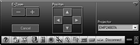 Clicking one of the buttons on the control bar may cause a submenu to appear above the control bar.