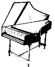 Mechanics of the Cristofori piano. The above image depicts the mechanism and action of Cristofori's piano. The hammer, made of paper, is engaged through depression of a key and strikes the string.