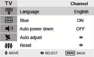 System setting You can choose the language