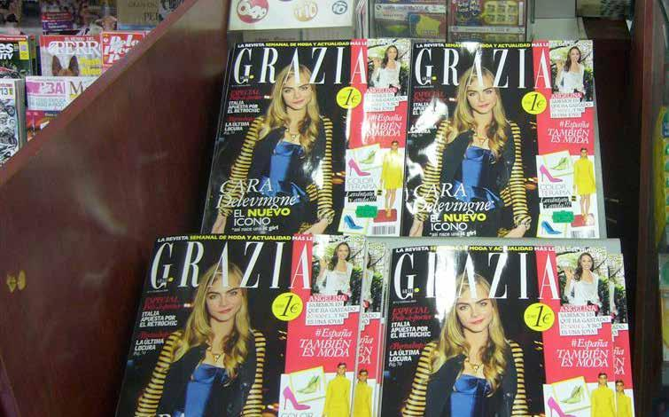 February 13 (the launch day)...and bloggers hearts!!! Grazia hits the newsstands.