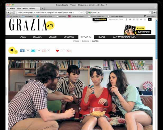 The campaign involved more than 21,000 national newsstands, with special Grazia displays at