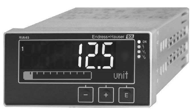 Technical Information RIA45 Panel meter Digital panel meter with control unit for monitoring and visualizing analog measured values Application Plant and apparatus engineering and construction