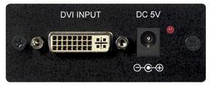 Operation Controls and Functions Front Panel 1. DVI Input port- This is the DVI input port. Connect the port to your device using a 24-pin DVI-D connector. 2. DC 5V 2.