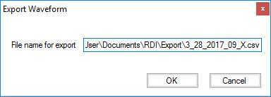 Once this option is selected, a dialog is displayed that allows the user to specify the file name for the exported data.