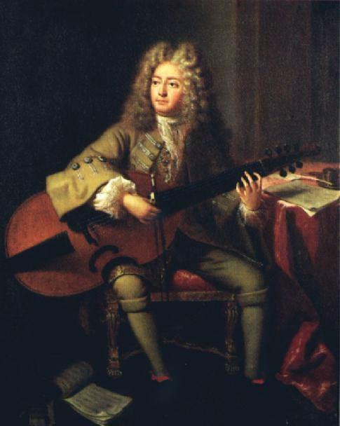 Marin Marais 1656-1728 French composer and viol player, studied with Lully, often conducted his operas, and with master of the bass viol Monsieur de SainteColombe for six months.