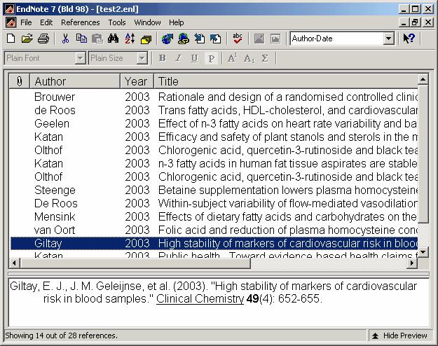 14 Endnote 7 the reference library by using the scroll bar, the scroll arrows, or the Page down, Page up, Home, End and Arrow keys.