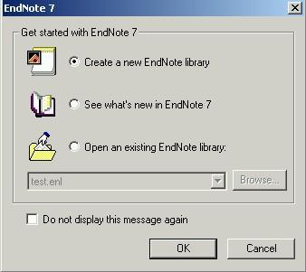 CREATING, OPENING AND SAVING LIBRARIES It is possible to create more than one library and to have more than one library open at the same time. To Open EndNote and create a new library 1.