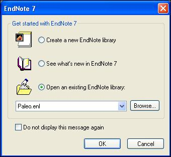 Chapter 3: Introduction to an EndNote Library This chapter covers the basics of working with EndNote. In particular, you will learn how to: Start EndNote and open a library.