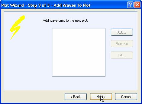 active chart in the window. Creating New Plots You can add new plots to existing or new charts using the Plot Wizard. 1.